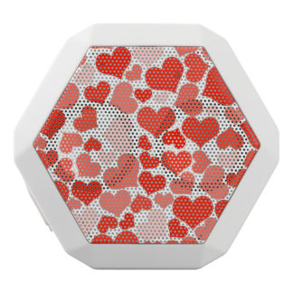 Red Hearts Background White Boombot Rex Bluetooth Speaker