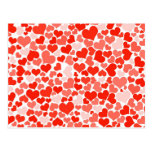 Red Hearts Background Postcards