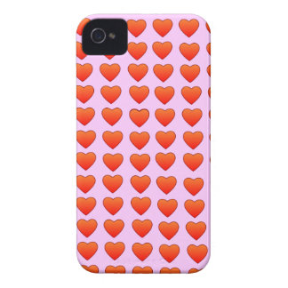 Red Hearts Barely There iPhone 4 Case