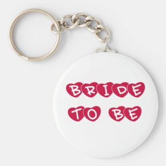 Red Hearts Bride to Be Key Chains