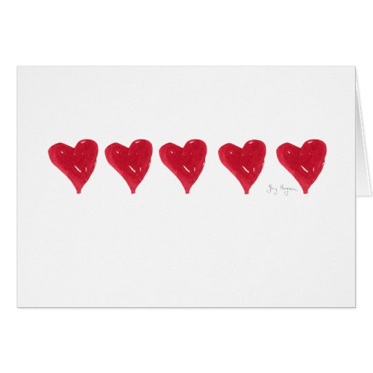 Red Hearts Cards