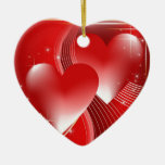 Red Hearts Christmas Tree Ornament