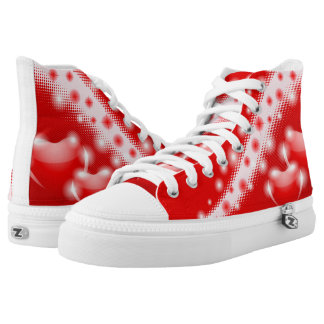 Red hearts decoration high tops