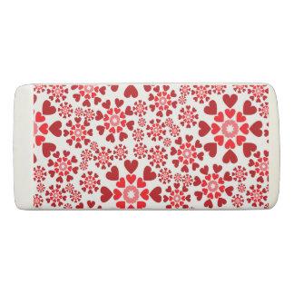Red hearts Eraser
