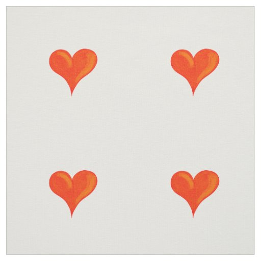 Red hearts fabric