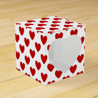 Red Hearts Favour Box