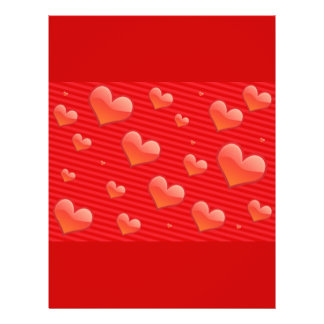 Red hearts 21.5 cm x 28 cm flyer