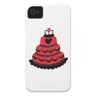 Red Hearts Gothic Cake Case-Mate Blackberry Case