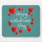 Red Hearts Happy Valentine's Day | Mousepad