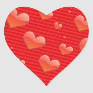 Red Hearts. Heart Sticker