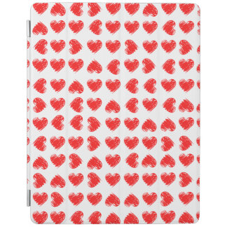 Red hearts iPad cover