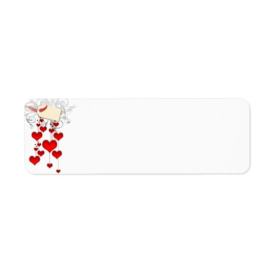 Red hearts labels