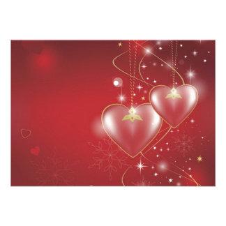 Red Hearts love relationships wallpaper background Custom Invite