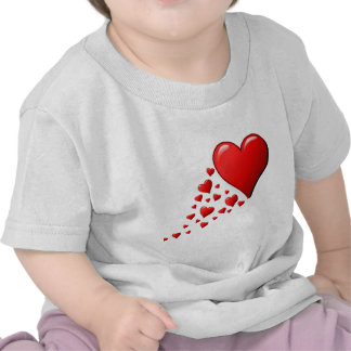 Red Hearts of Love Tshirt