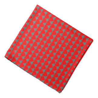 Red Hearts on Gray Kerchiefs