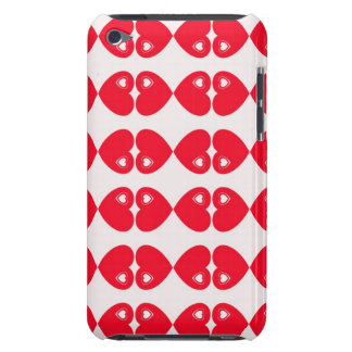 Red Hearts on white digital art design iPod case iPod Touch Case-Mate Case