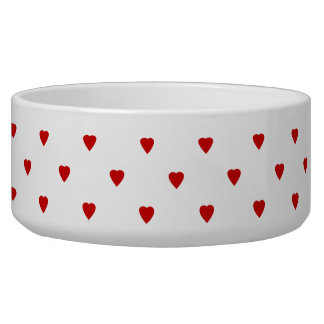 Red Hearts Pattern on a White Background.