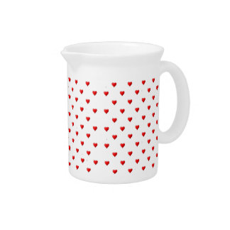 Red Hearts Pitcher
