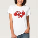 Red hearts t shirt