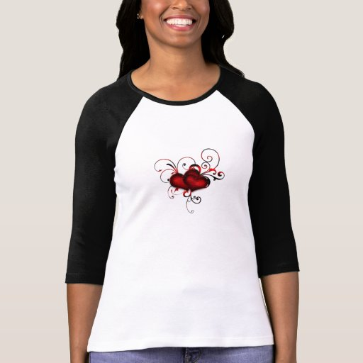 Red Hearts Tee Shirts
