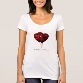Red Hearts Valentine Balloons T-Shirt