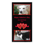 Red Hearts  Vertical Photo Card Template
