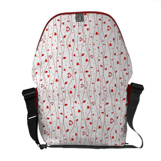 Red hearts vines courier bags