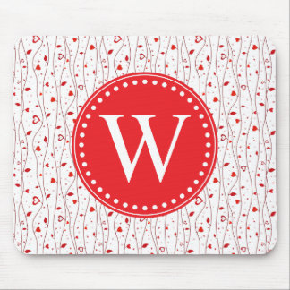 Red hearts vines mousepads