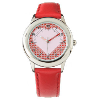 Red hearts watch
