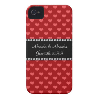 Red hearts wedding favors blackberry cases