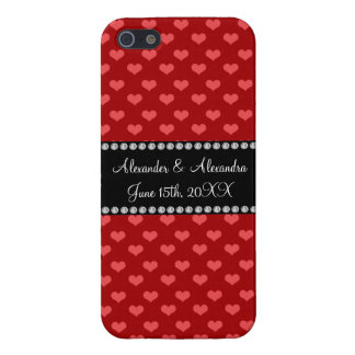 Red hearts wedding favors iPhone 5 cases