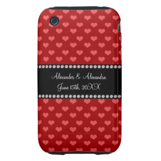 Red hearts wedding favors tough iPhone 3 cases