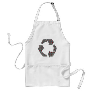 Red Hearts with Black and White Stars Standard Apron
