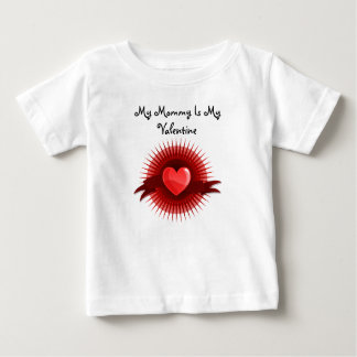 Red Hearts with Rays Tshirts