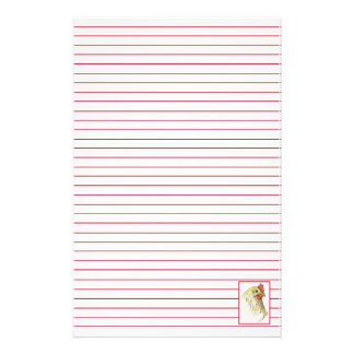Red Hen Chicken Farm Animal Lined Stationery