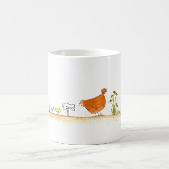 Red Hen in the Herb Garden Coffee Mug