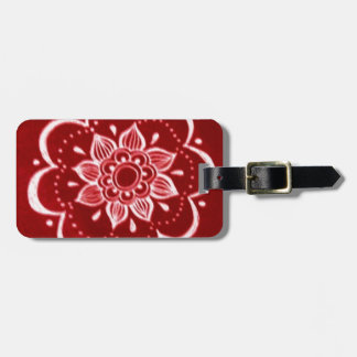 Red,Henna Luggage Tag