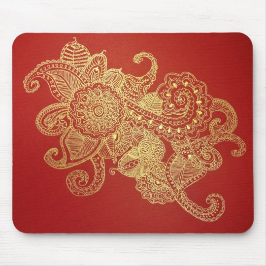 Red Henna Paradise Mouse Mat