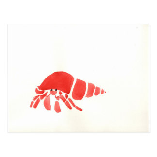 Red Hermit Crab Postcard