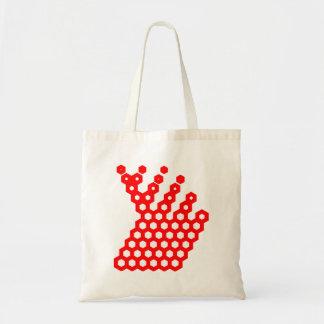 Red Hexagon Arrow Bag
