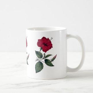 Red Hibiscus Blossom Coffee Mug