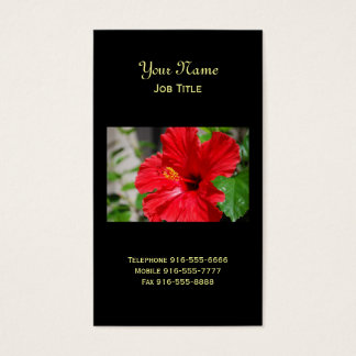 Red Hibiscus Business Cards