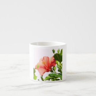 red hibiscus espresso cup
