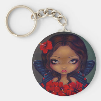 """Red Hibiscus Fairy"" Keychain"
