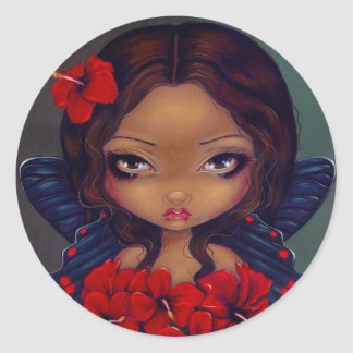 """Red Hibiscus Fairy"" Sticker"