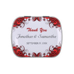 Red Hibiscus Floral Wedding Favour Candy Tins