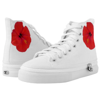 Red Hibiscus High Tops