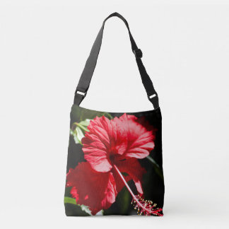 Red Hibiscus in the Sun, Tote All Over!