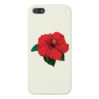 Red Hibiscus iPhone 5 Cases