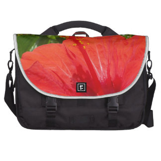 Red Hibiscus Laptop Computer Bag